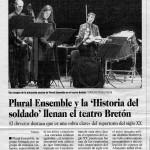 Hernán Gené :: Actor :: Historia de un soldado :: Prensa